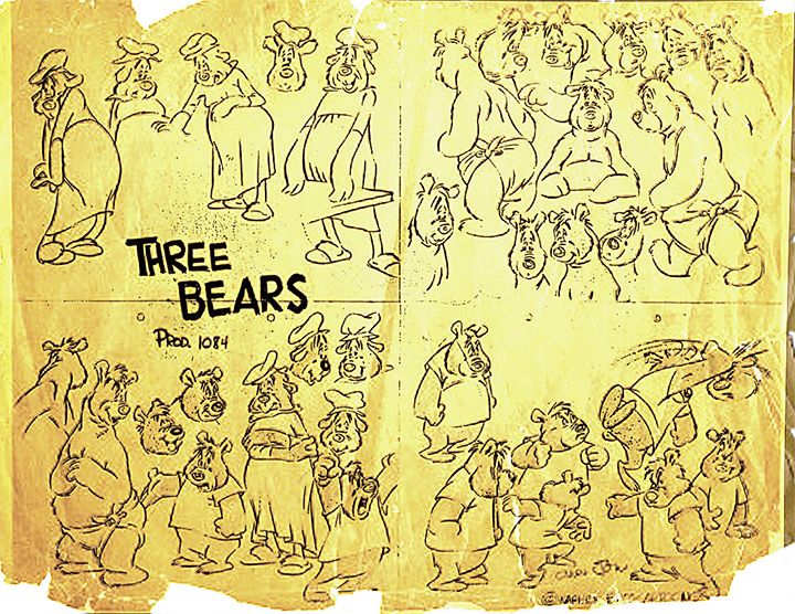 chuck jones three bears 1940