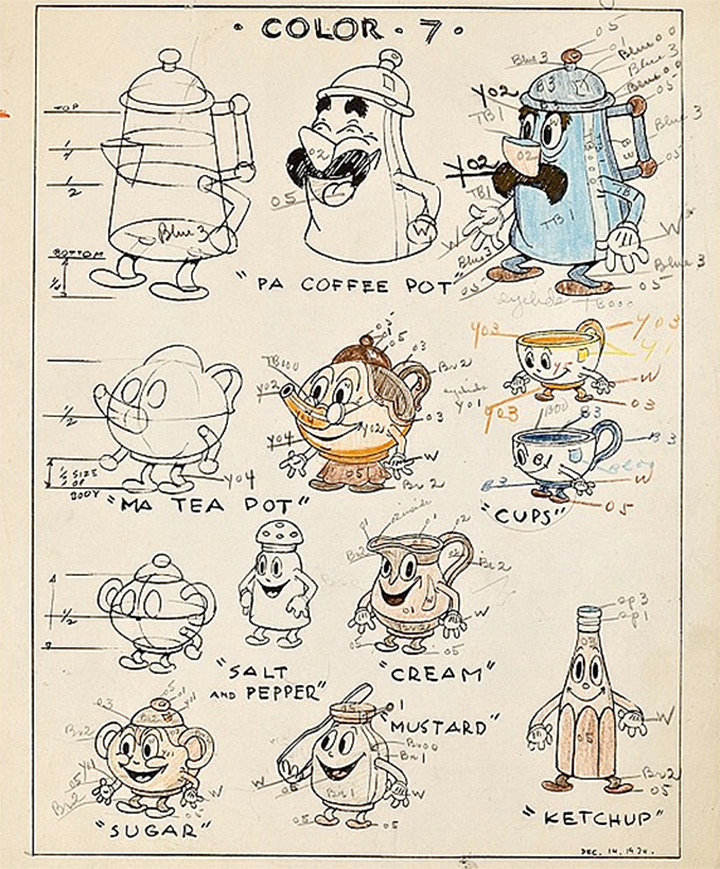 a picnic panic 1935 animated model sheets