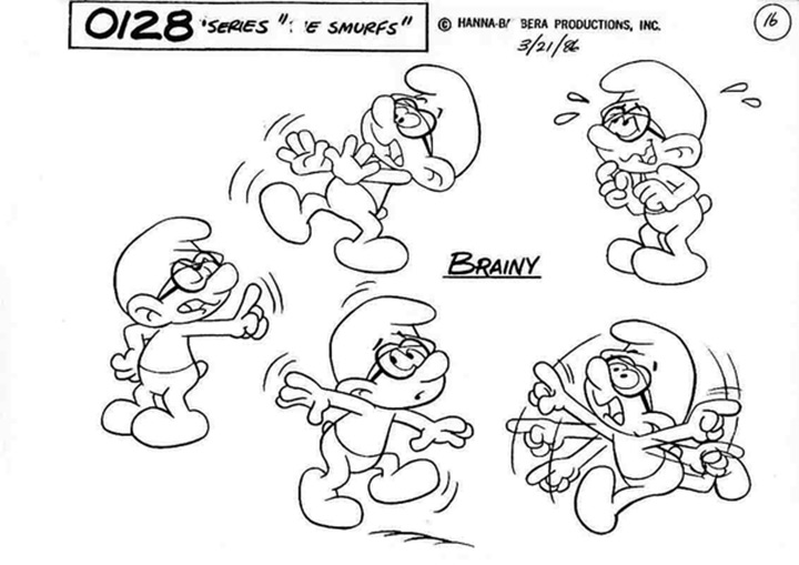 brainy smurf model sheet