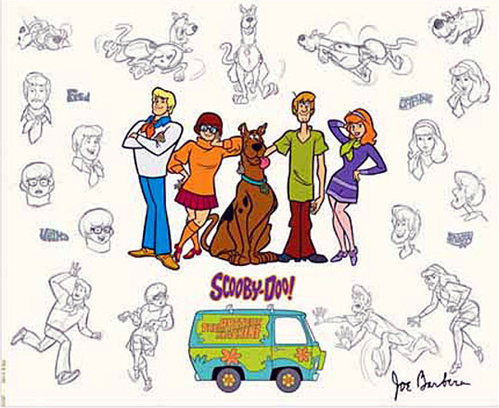 scooby doo mystery gang model sheet