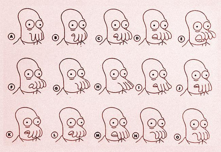 zoidberg face model sheet