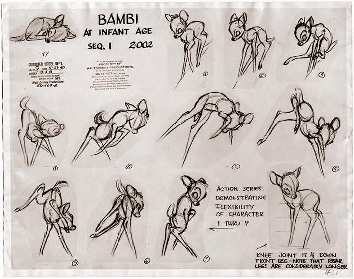 bambi model sheet