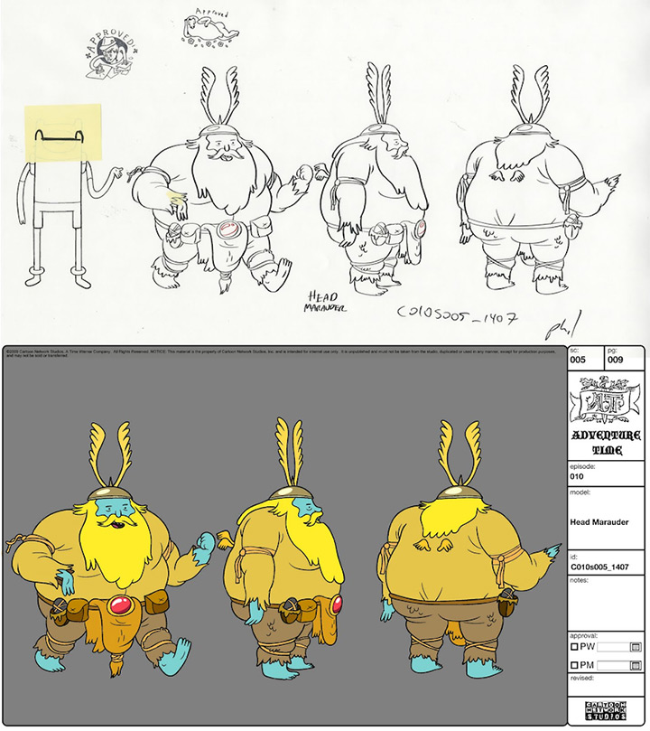 marauder adventure time model sheet