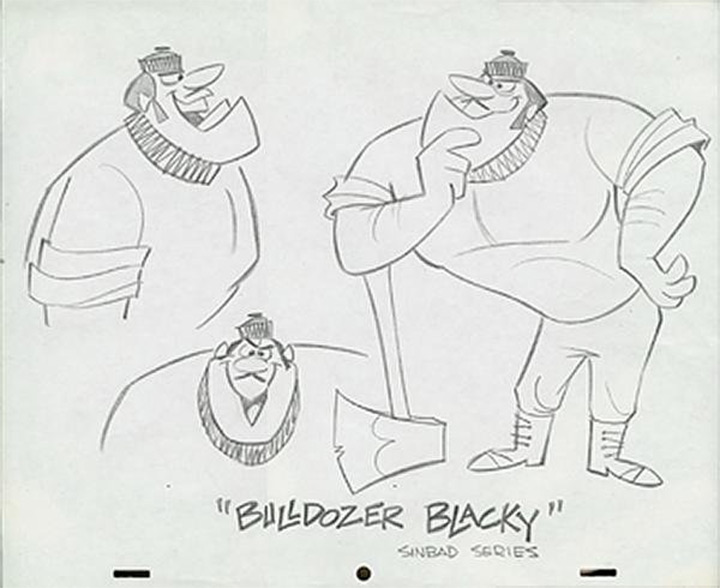 bulldozer blacky hanna barbera model sheet