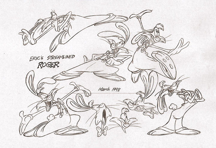 roger rabbit model sheet