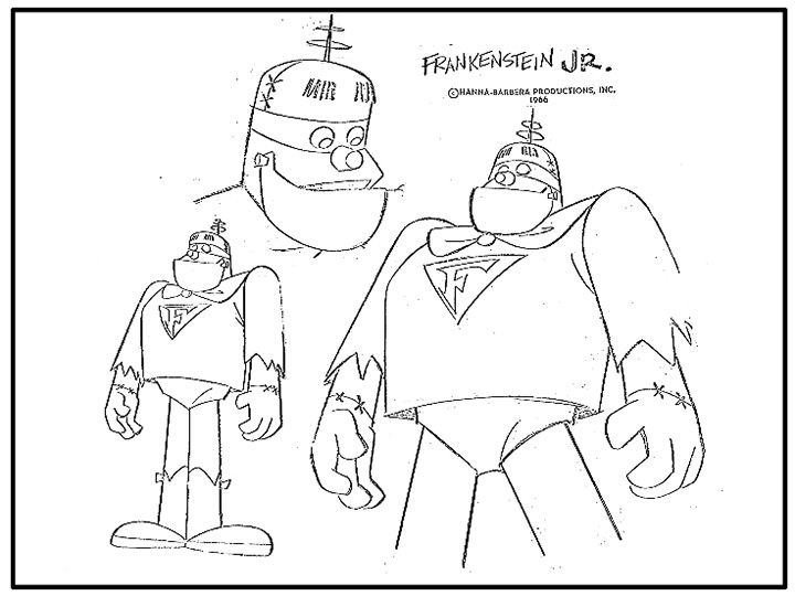 frankenstein jr model sheet