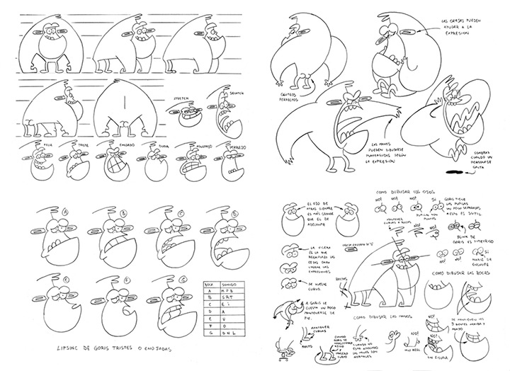 goris the gorilla model sheet