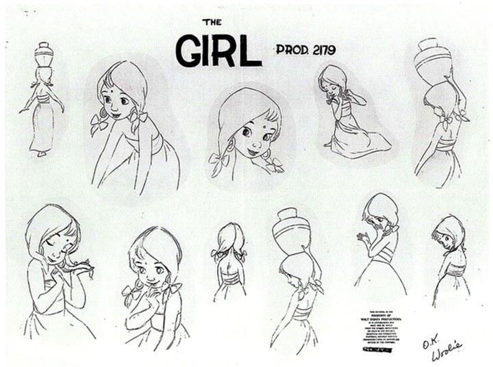 the girl jungle book model sheet