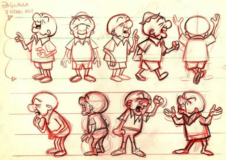 mr magoo body model sheet